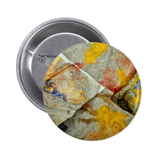 Finger paint on corners of four paper towels pinback button