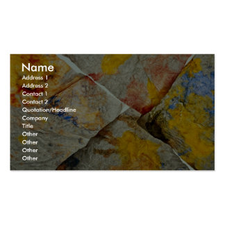 Finger paint on corners of four paper towels business card template