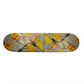 Finger paint on corners of four paper towels skate boards