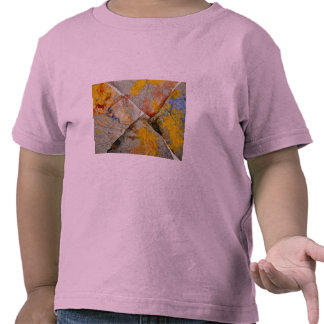 Finger paint on corners of four paper towels t shirt