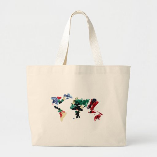 Finger Paint World Map Tote Bag