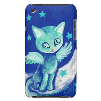 Finger Painted Kitty Cat On Moon With Stars Case-Mate iPod Touch Case