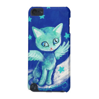 Finger Painted Kitty Cat On Moon With Stars iPod Touch (5th Generation) Covers
