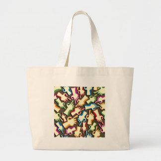 Finger pointing hands seamless pattern. jumbo tote bag
