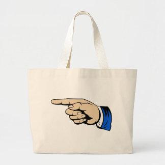 Finger Pointing Large Tote Bag