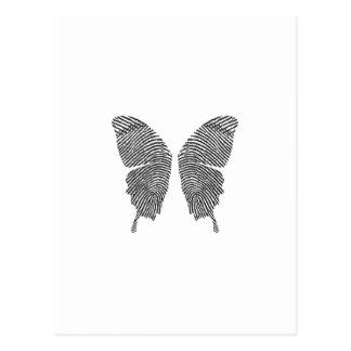 Finger Print Butterfly Wings Postcard
