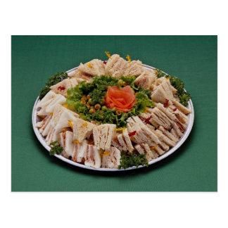 Finger sandwich platter postcard