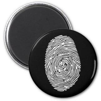 fingerprint4 6 cm round magnet