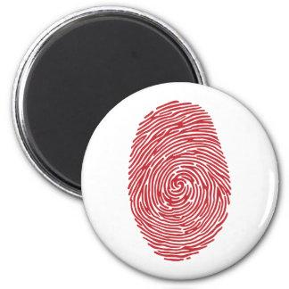 fingerprint5 6 cm round magnet