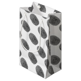 Fingerprint CSI Crime Scene Small Gift Bag