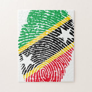 Fingerprint Flag of Saint Kitts. Jigsaw Puzzle