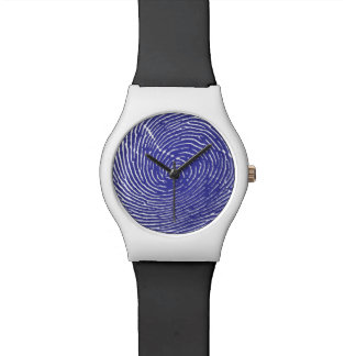 Fingerprint Graphic Watch