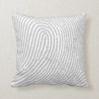 Fingerprint  Gray Cushion