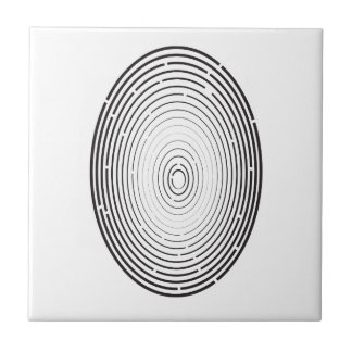 fingerprint icon ceramic tile
