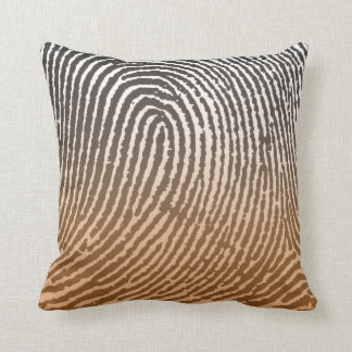 Fingerprint in Brown Cushion