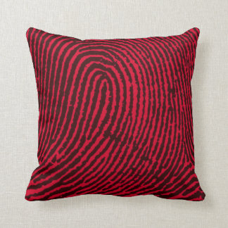 Fingerprint in Red and Black Cushion