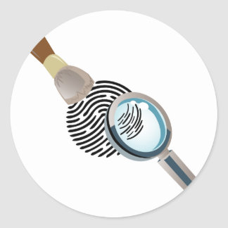 Fingerprint Round Sticker