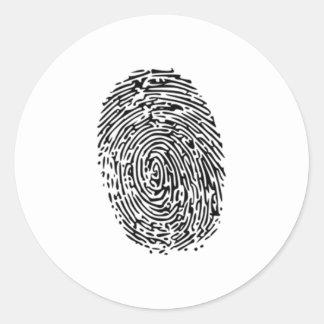 Fingerprint Round Sticker