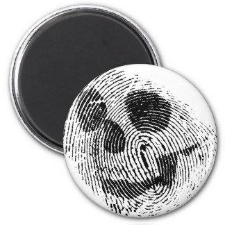 Fingerprint skull 6 cm round magnet