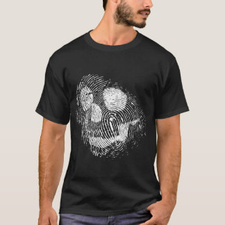 Fingerprint skull T-Shirt