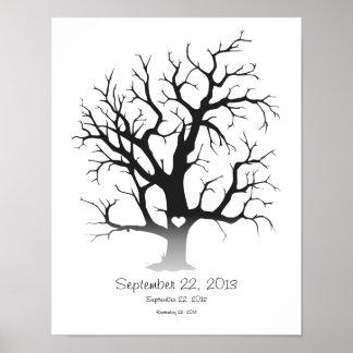 Fingerprint Tree 11 x14 Poster