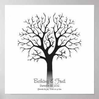 Fingerprint Tree 12 x12 Poster