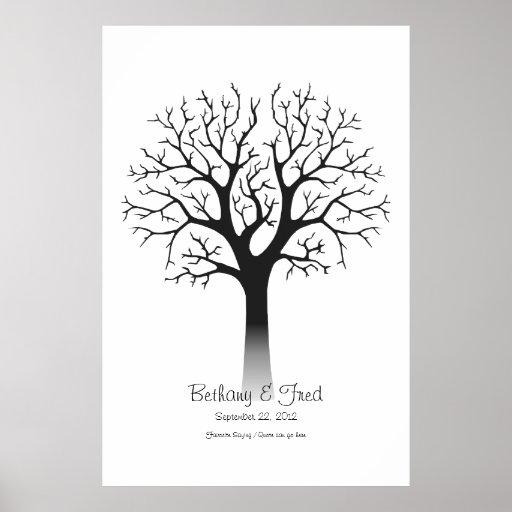 "Fingerprint Tree 32""x48"" Print"