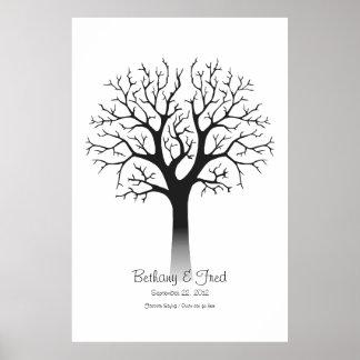 Fingerprint Tree 40 x60 Poster