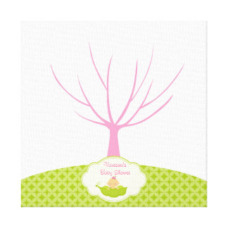 Fingerprint Tree Baby Shower Guestbook Pea Pod