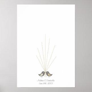 Fingerprint Wedding Guestbook | Love Birds