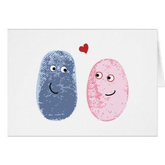 Fingerprints in love card