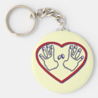 Fingerprints of God - 1 Peter 5:6-7 Basic Round Button Key Ring