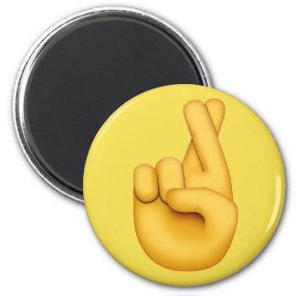 Fingers crossed Emoji Magnet