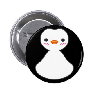 Finguin Cute Pinguin Face Simple Pin