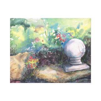 Finial in the Garden Canvas Prints