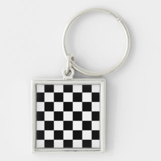 Finish Line Silver-Colored Square Keychain
