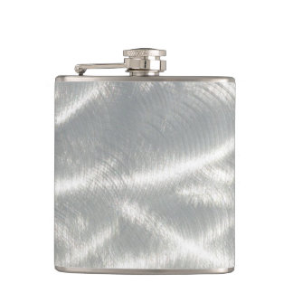 Finished Metal Look Hip Flask