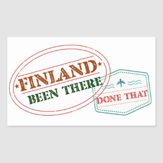 Finland Been There Done That Rectangular Sticker