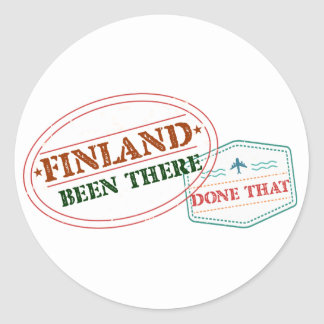 Finland Been There Done That Round Sticker