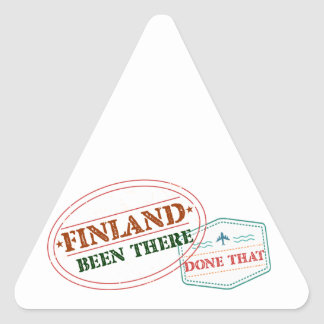 Finland Been There Done That Triangle Sticker