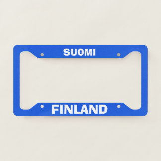 Finland Classic License Plate Frame