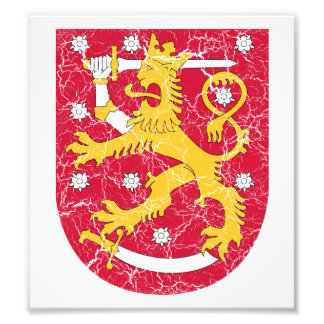 Finland Coat Of Arms Art Photo
