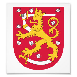 Finland Coat Of Arms Photograph