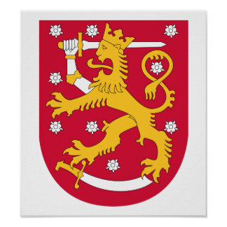 Finland Coat Of Arms Print