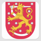 Finland Coat of Arms Square Sticker