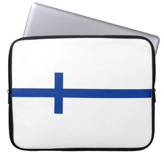 finland country flag long symbol laptop sleeve