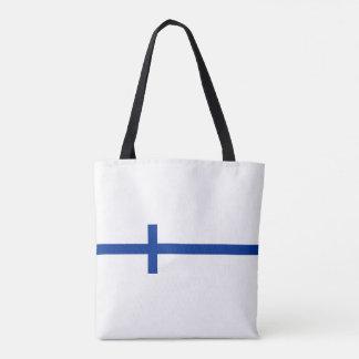 finland country flag long symbol tote bag