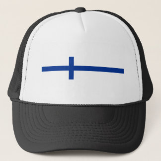 finland country flag long symbol trucker hat