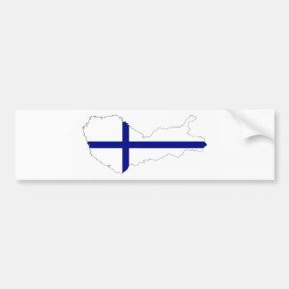 finland country flag map shape silhouette symbol bumper sticker