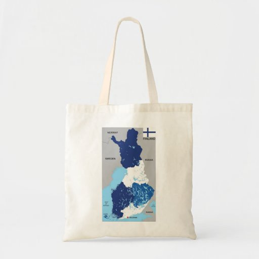 finland country political map flag tote bag